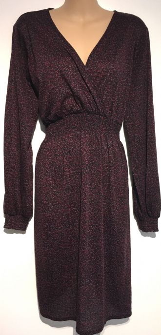 H&M MAMA BERRY PRINT LONG SLEEVED MATERNITY/NURSING DRESS SIZE XL 16-18